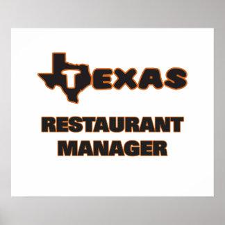 Texas Restaurant Manager Poster