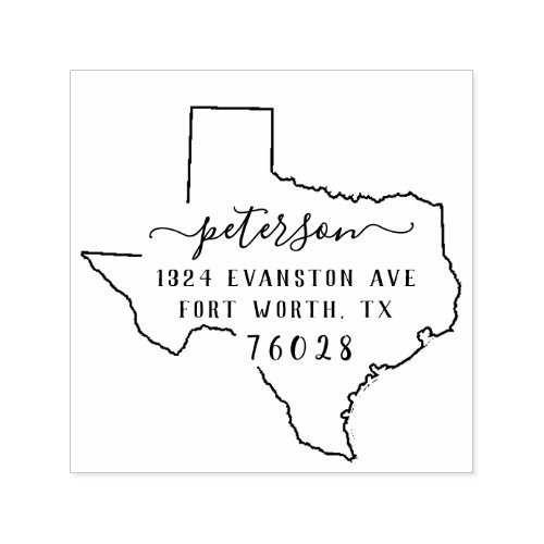 Texas Return Address Stamp Self_Inking