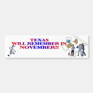 Texas - Return Congress To The People!! Bumper Stickers