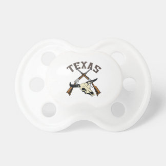 TEXAS RIFLES AND SKULL BooginHead PACIFIER