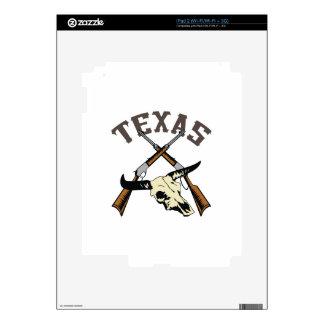 TEXAS RIFLES AND SKULL iPad 2 SKINS