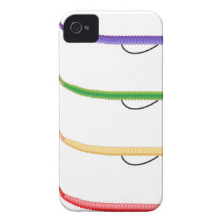 Texas Rig soft plastic fishing lure colored worms iPhone 4 Case-Mate Case
