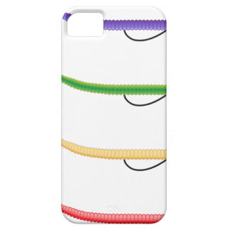 Texas Rig soft plastic fishing lure colored worms iPhone SE/5/5s Case