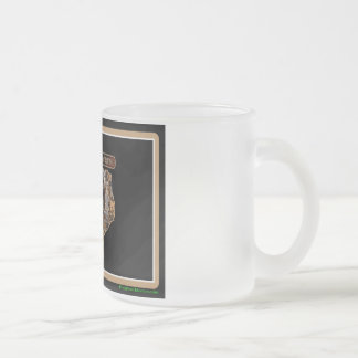 TEXAS Rig Up Camo Frosted Glass Coffee Mug