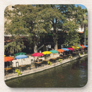 Texas, Riverwalk, dining on river's edge Beverage Coaster