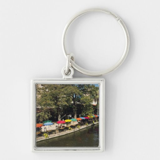 Texas, Riverwalk, dining on river's edge Keychain