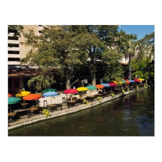 Texas, Riverwalk, dining on river's edge Postcards