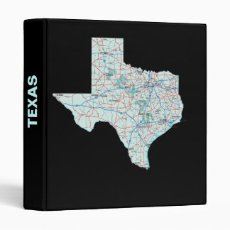 Texas Road Map Avery Binder