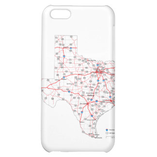 Texas Road Map Case For iPhone 5C