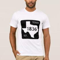 texas road sign 1836 lone star T-Shirt