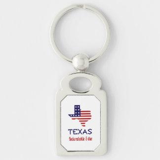 Texas Rocks Red White & Blue Key-Chain Keychain