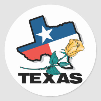 Texas Rose Classic Round Sticker