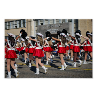 Texas Rose Festival Parade Marchers Poster