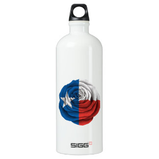 Texas Rose Flag Aluminum Water Bottle