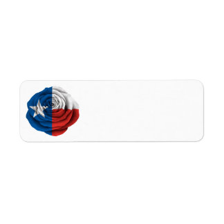 Texas Rose Flag Label
