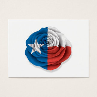 Texas Rose Flag on White Business Card