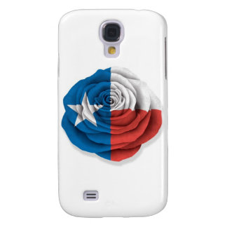 Texas Rose Flag on White Galaxy S4 Case