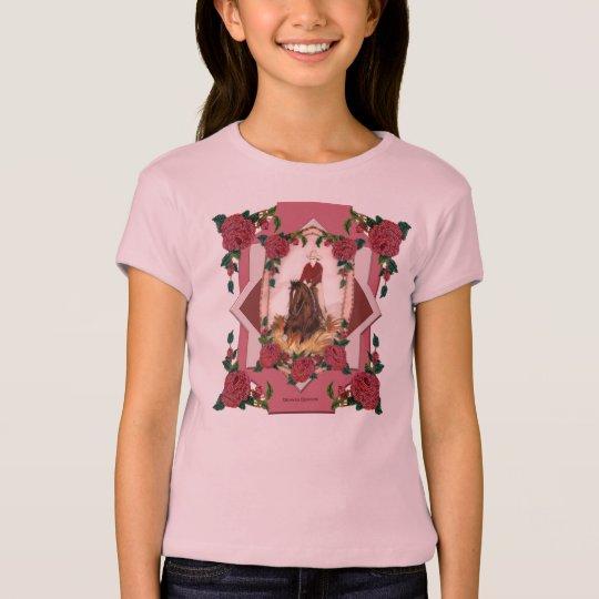 Texas Rose Reining Horse Kids T-Shirt