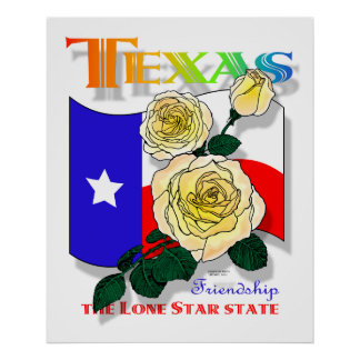 Texas rose superposter poster