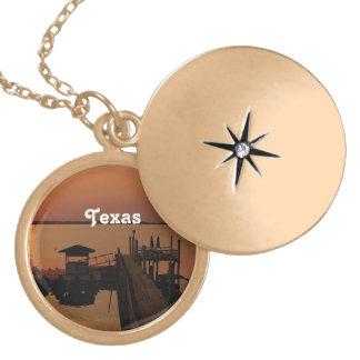 Texas Round Locket Necklace