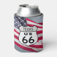 Texas Route 66 Can Cooler