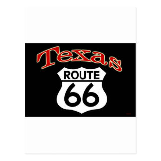 Texas Route 66 Shield Postcard