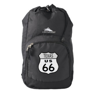 Texas Route 66 Sign High Sierra Backpack