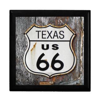 Texas Route US 66 Keepsake Box