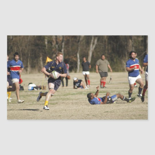 Texas Rugby Rectangular Sticker
