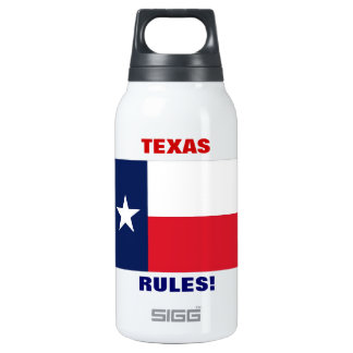 TEXAS RULES! INSULATED WATER BOTTLE