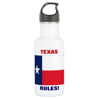 TEXAS RULES! STAINLESS STEEL WATER BOTTLE