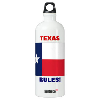 TEXAS RULES! WATER BOTTLE
