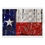Texas Rusted Lone Star State Flag Greeting Card