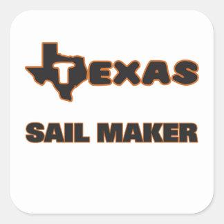 Texas Sail Maker Square Sticker