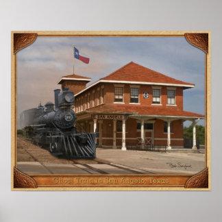 TEXAS SAN ANGELO TRAIN DEPOT 01 POSTER