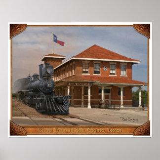 TEXAS SAN ANGELO TRAIN DEPOT 02 POSTER