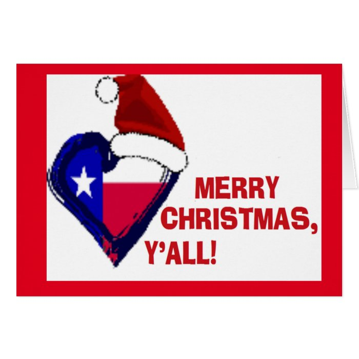 Texas santa merry christmas y all card zazzle