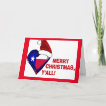 Texas Santa - Merry Christmas Y'all! Holiday Card