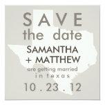 Texas Save the Date Cards Custom Invitation
