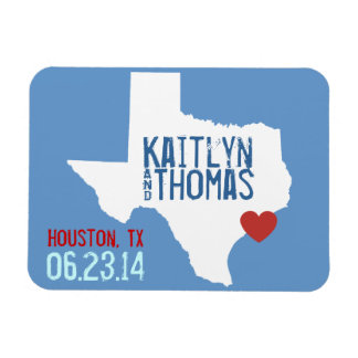 Texas Save the Date - Customizable City Magnet