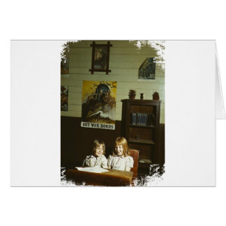 Texas School Girls Card