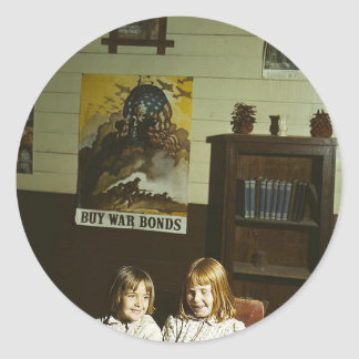 Texas School Girls Classic Round Sticker
