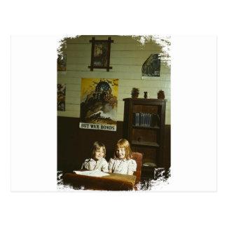 Texas School Girls Postcard