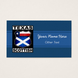 Texas Scottish American Custom Business Cards