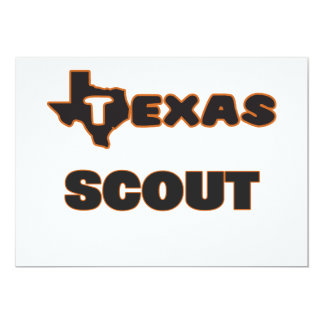 Texas Scout 5x7 Paper Invitation Card