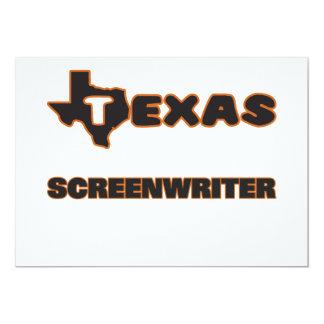 "Texas Screenwriter 5"" X 7"" Invitation Card"