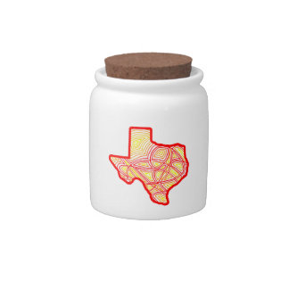 Texas Scribbleprint Candy Dishes