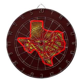Texas Scribbleprint Dartboard
