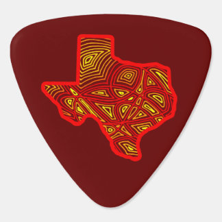 Texas Scribbleprint Guitar Pick