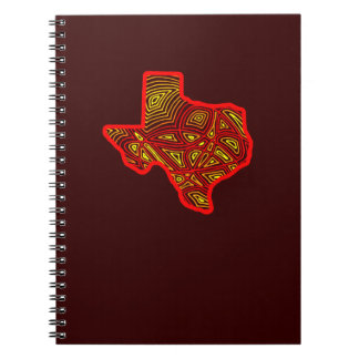 Texas Scribbleprint Spiral Notebook